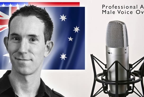 replace American voice over with AUSTRALIAN Male Professional