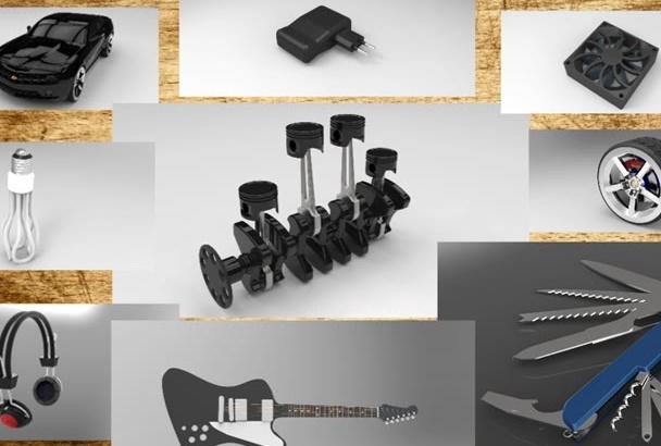 design 3D models with high quality render