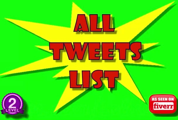tweets List of 14500 All Premade Precompiled For Twitter Phrases in 24 Hours