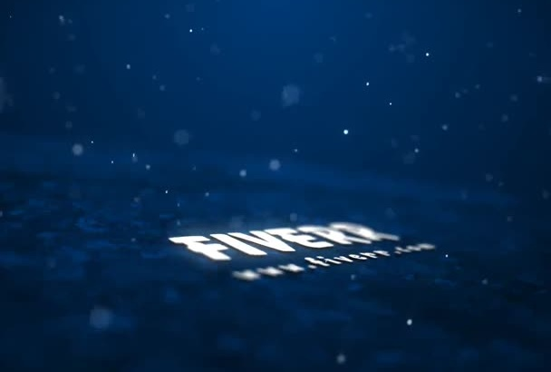 make this professional logo intro in HD with your text