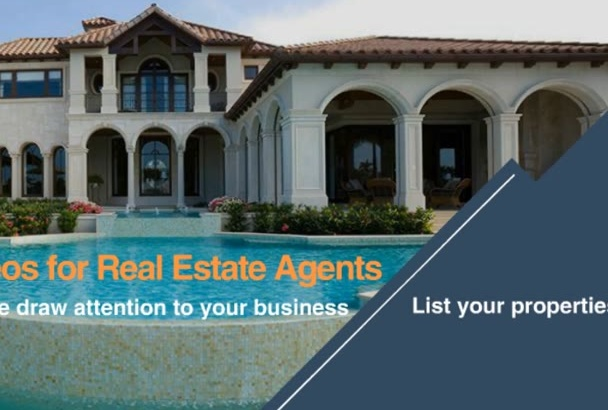 make a professional marketing video for real estate