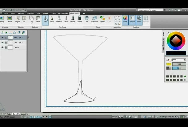 make Any Of Your Scetch In AutoCAD drawing
