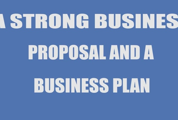 write a strong Business Plan or Proposal