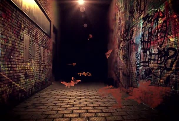 make this cool Graffiti Alley intro with your text