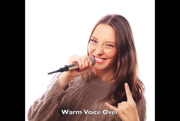 record a WARM female voice over today