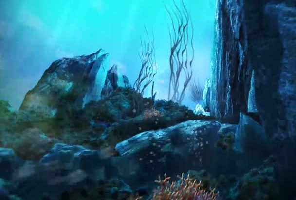 in just1day create beautiful UNDERWATER animated video intro