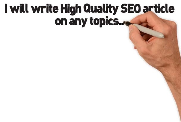 write One High Quality SEO Article On Any Topic