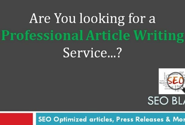 write SEO Optimized articles of 400 to 500 words