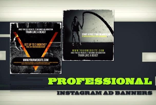 make you ATTRACTIVE Instagram banner ads