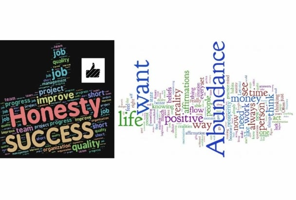 create 5 professional wordcloud typography in 24hr
