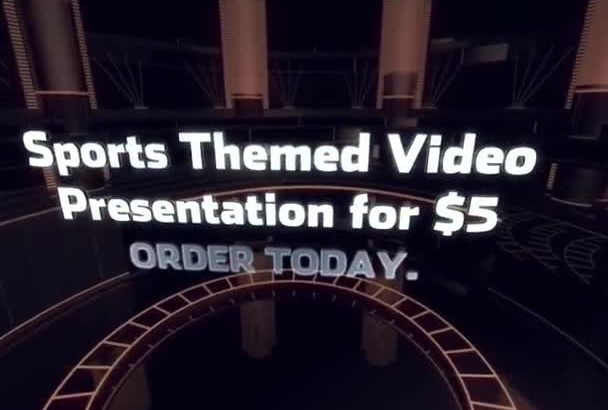 create a Sports Theme Video with photos and text