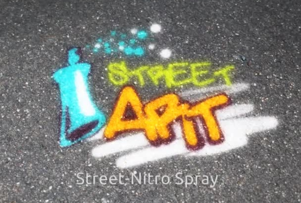 paint your Logo or message on Street,Wall and Wood