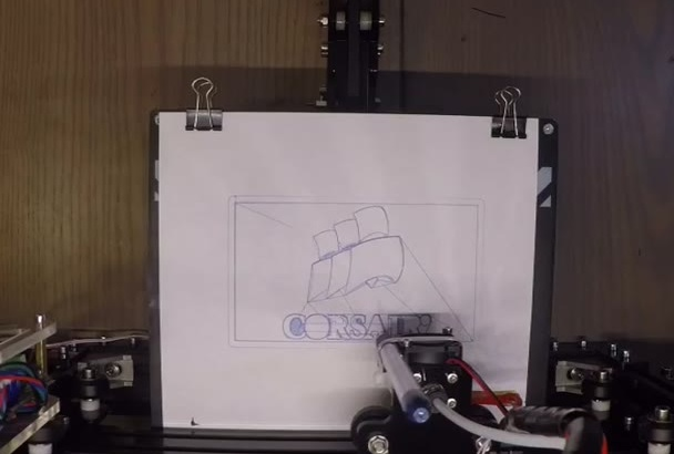 draw your logo with a pen by a robot
