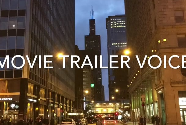 record an AWESOME movie trailer voice over for anything
