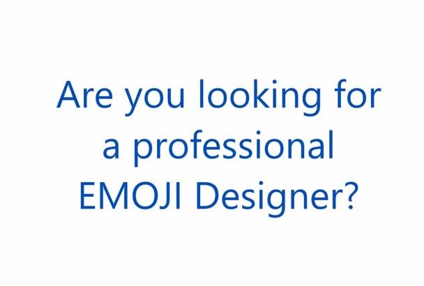 design and illustrate amazing emoji icon