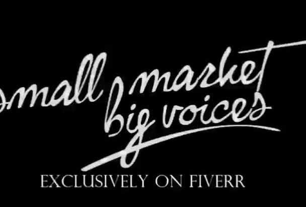 deliver your perfect Voice over in a day