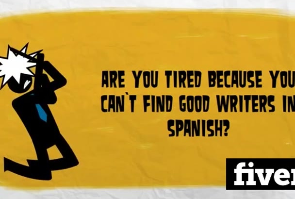 write articles in Spanish