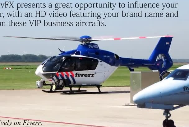 provide HD advertisement video of your logo on helicopter