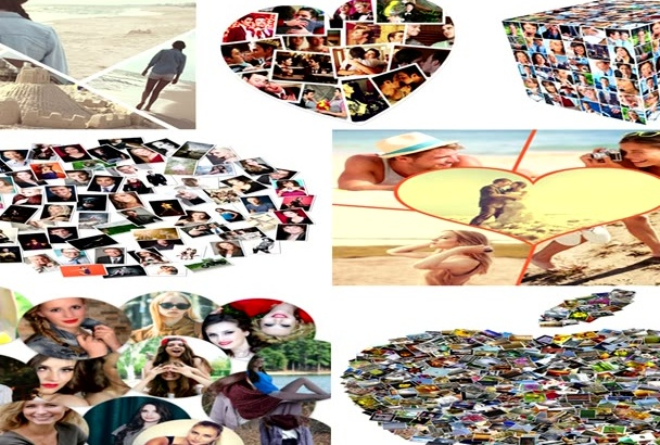 make KILLER photo collage with adorable shapes