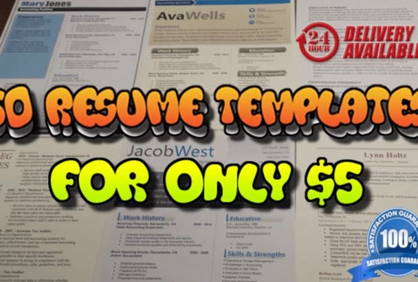 send you 50 Resume Templates