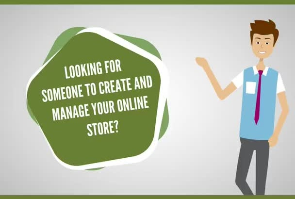 create and manage an online store on monthly bases