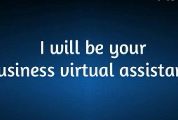 be your Business Personal Assistant for 3 hours