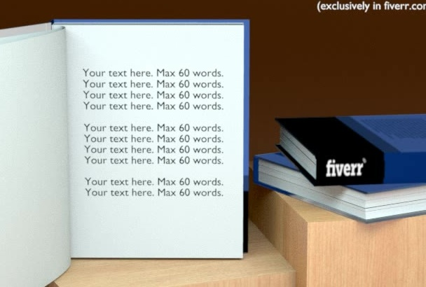 convert your 2d book cover into 3d Video intro