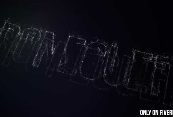 create beauty particle logo reveal