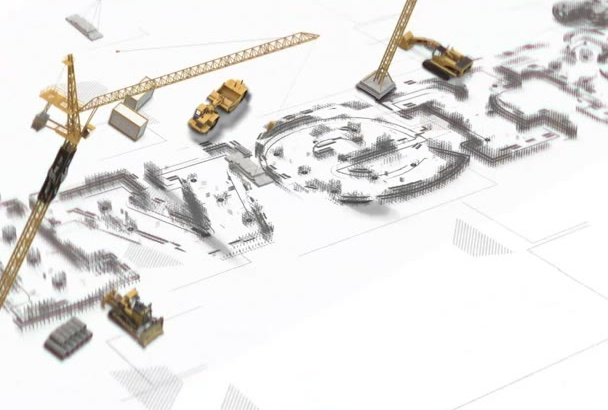 make Construction Logo Animation in Full HD in 24 Hours