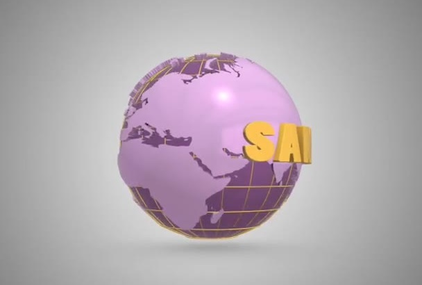 make a 3d globe animation with your text