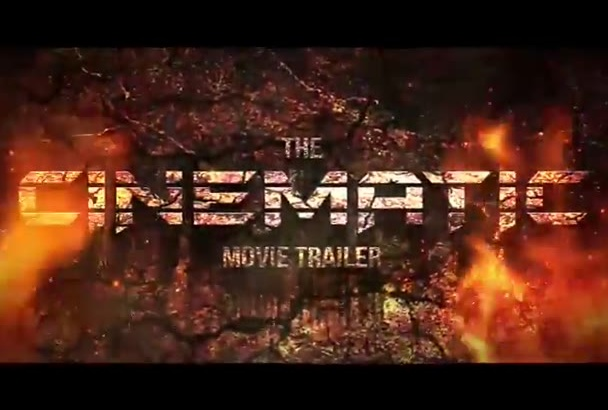 create a PRO epic cinematic movie trailer with voiceover