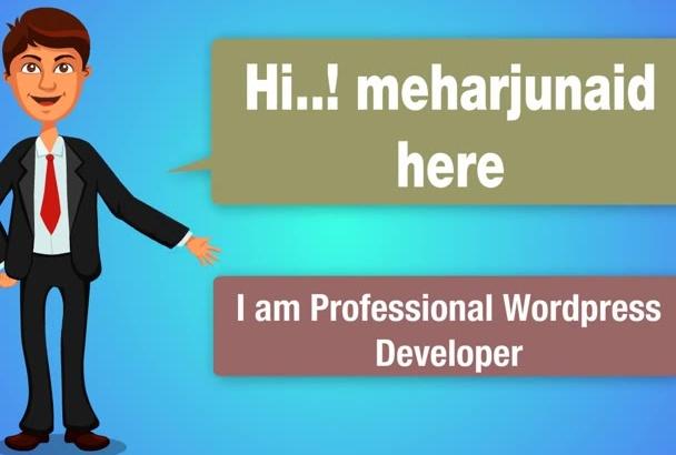 develop Mobile Responsive Wordpress Website