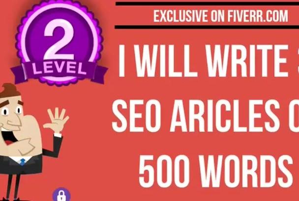 write 3 SEO Articles of 500 words on any topic
