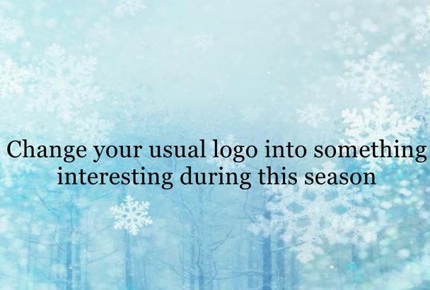 add Christmas hat and snow to your logo