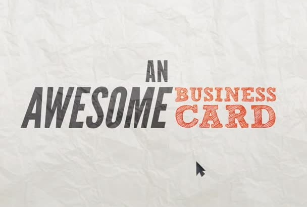 create a MEMORABLE custom business card