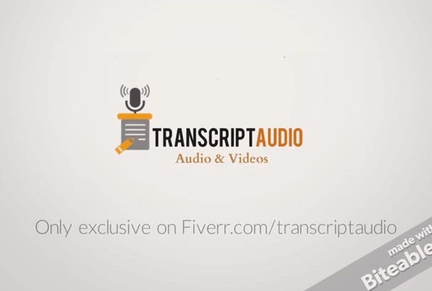 transcribe 28 mins of audio n video within 24 hrs