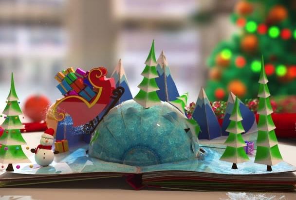 design a stunning Christmas video intro