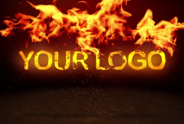 make this Fire Logo Reveal Intro