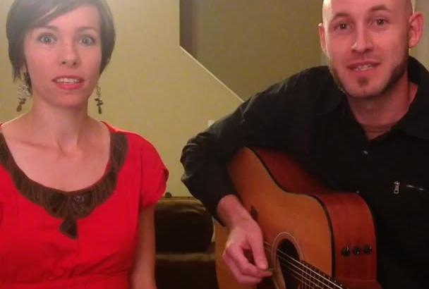 sing an original improv birthday song on video