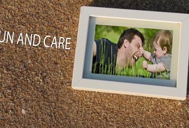 design an emotional Fathers day video greeting