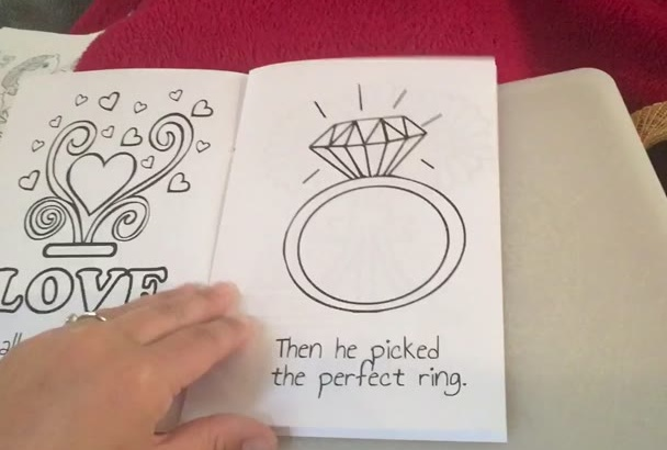 design wedding coloring book invitation