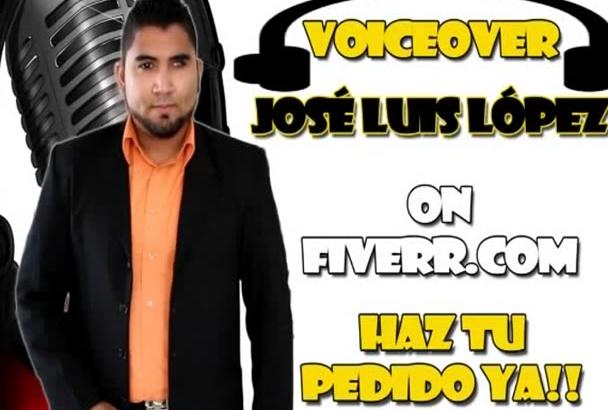 grabar voz en español latino por 5 Dolares