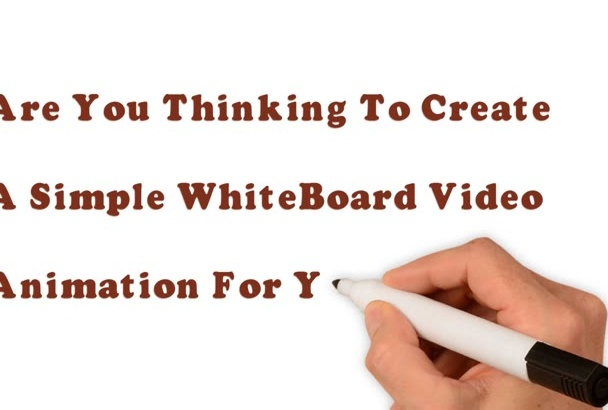 create a simple whiteboard video animation