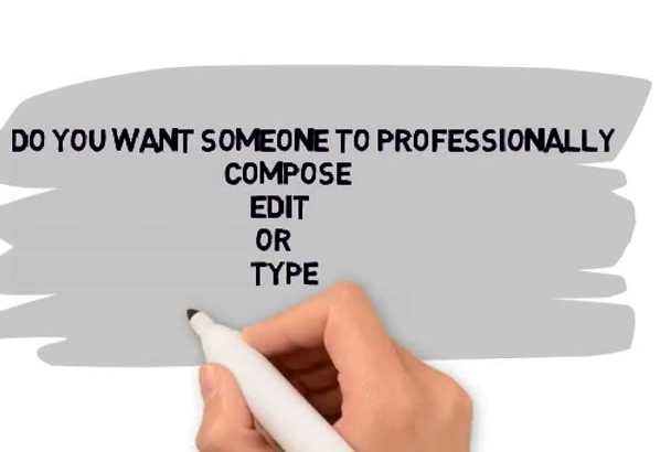 professionally compose,type and edit your document