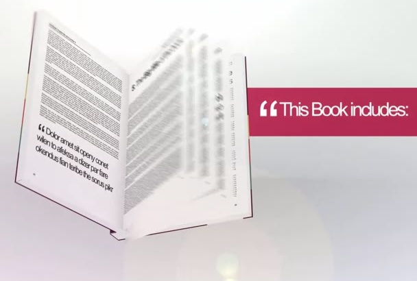 design a 3D video intro for your book