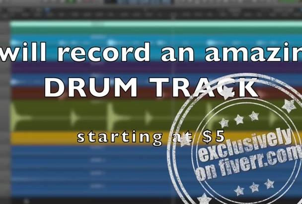 record a professional drum track for you
