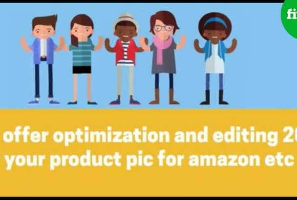 optimize and Photoshop 10 of your product pic for amazon etc