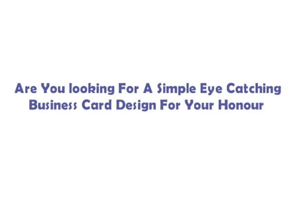 design Eye Catching Business Card with free Editable file