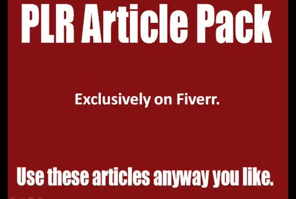 send PLR articles on topics of your choice