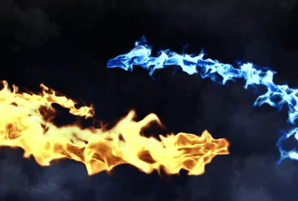 create a clashing DRAGONS cinematic intro for your logo